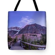 Mt. Edith Cavell Trail At Twilight Tote Bag