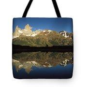 Mt Fitzroy At Dawn Patagonia Tote Bag