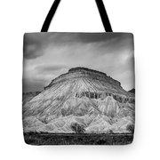 Mt. Garfield - Black And White Tote Bag