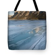 Mt. Inglismaldie And Ice Formations Tote Bag