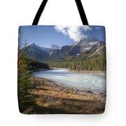 Mt Kerkeslin And Athabaska River Jasper Tote Bag