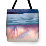 Mt Laurier Mirrored On Lake Laberge Yukon Canada Tote Bag