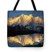 Mt Makalu And Mt Chomolonzo Tote Bag