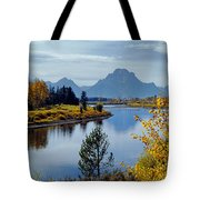 1m9208-mt. Moran And The Snake River, Wy Tote Bag