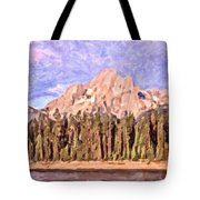 Mt Moran From Colter Bay Tote Bag