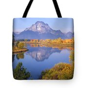 1m9234-mt. Moran Reflection, Wy Tote Bag