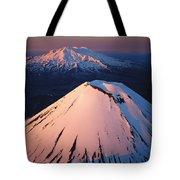 Mt Ngauruhoe And Mt Ruapehu Tote Bag