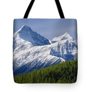 1m3627-mt. Outram And Mt. Forbes Tote Bag