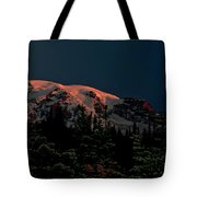 Mt Rainier At Dawn Tote Bag