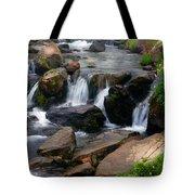 Mt Rainier Mountain Stream Tote Bag