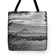Mt. Rainier Over The Port Of Tacoma Tote Bag