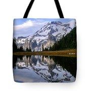 Mt. Rainier On Aurora Lake Tote Bag