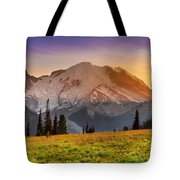 Mt. Rainier Sunset 2 Tote Bag