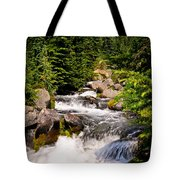 Mt. Rainier Waterfall Tote Bag