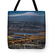 Mt Saint Helens During Blue Hour Tote Bag