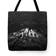 Mt Shasta Black And White Tote Bag