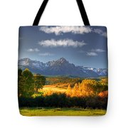 Mt Sneffels And The Dallas Divide Tote Bag by Ken Smith