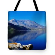 Mt St Helens Reflecting Into Spirit Lake   Tote Bag