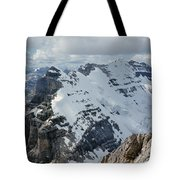 T-703510-mt. Victoria Seen From Mt. Lefroy Tote Bag