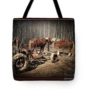 Mud Season - With Border Tote Bag