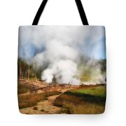 Mud Volcano And Sulphur Caldron  Tote Bag