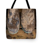 Muddy Boots On Deck Tote Bag