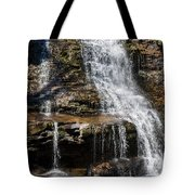 Muddy Creek Falls At Low Water At Swallow Falls State Park In Western Maryland Tote Bag
