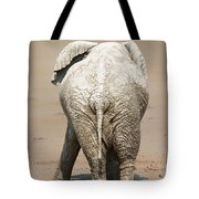 Muddy Elephant With Funny Stance  Tote Bag