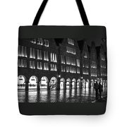 Cobblestone Night Walk In The Town Tote Bag