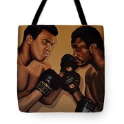 Muhammad Ali And Joe Frazier Tote Bag by Paul Meijering