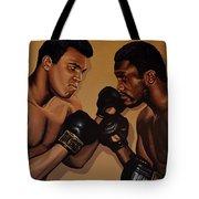 Muhammad Ali And Joe Frazier Tote Bag