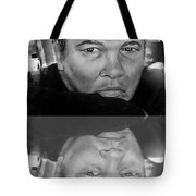 Muhammad Ali Formerly Known As Cassius Clay Version II With Reflection Tote Bag by Jim Fitzpatrick