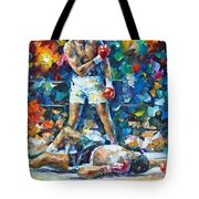 Muhammad Ali Tote Bag by Leonid Afremov