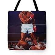 Muhammad Ali Versus Sonny Liston Tote Bag by Paul Meijering