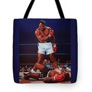 Muhammad Ali Versus Sonny Liston Tote Bag