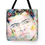 Muhammad Ali - Watercolor Portrait.1 Tote Bag