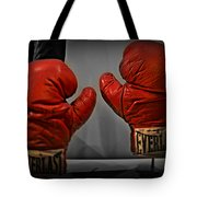 Muhammad Ali's Boxing Gloves Tote Bag by Bill Cannon