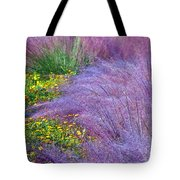 Muhly Grass In The Morning Tote Bag