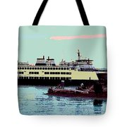 Mukilteo Clinton Ferry Panel 3 Of 3 Tote Bag