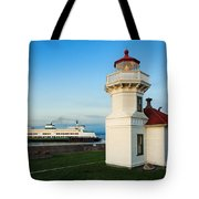 Mukilteo Ferry And Lighthouse Tote Bag