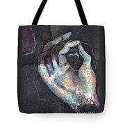 Muladhara - Root 'blue Hand' Chakra Mudra Tote Bag