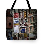 Mulberry Street New York City Tote Bag
