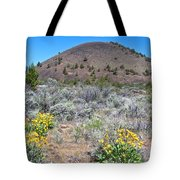 Mule's Ears And Schonchin Butte In Lava Beds Nmon-ca Tote Bag