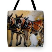 Mules In Full Dress Tote Bag