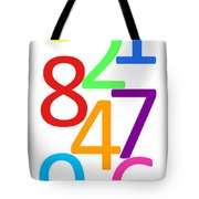 Multi-color Numbers Tote Bag