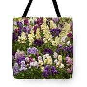 Multi-colored Blooms Tote Bag