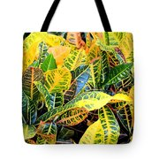 Multi-colored Croton Tote Bag