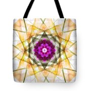 Multi Flower Abstract Tote Bag
