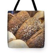 Multi Grain Bagels Closeup Tote Bag