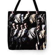 Multiple Johnny Cash's In Trench Coat 1 Collage Old Tucson Arizona 1971-2008 Tote Bag